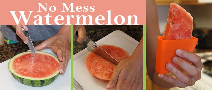 no mess watermelon